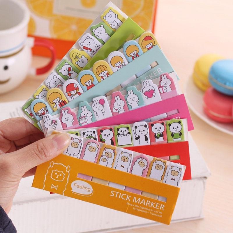1 х животных для девочек Kawaii Заметок Post-It Memo Pad школьные принадлежности планировщик наклейки бумаги закладки корейский канцелярские