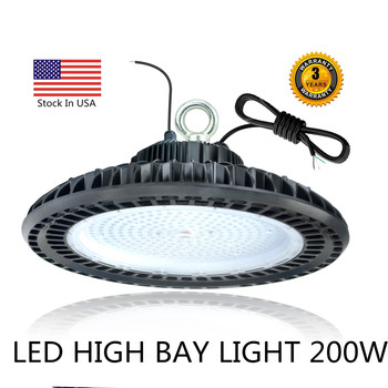 200W Led Garage Light Super Bright Led High Bay Light Workshop Lamp Industrial Warehouse Garage Accessories IP65 Waterproof Lamp