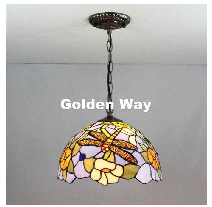 Free Shipping Tiffany Dragonfly Bar Pendant Lamp Vintage European Dining Room Pendant Lamp AC Colored Glass Hallway Pendant Lamp пылесос автомобильный berkut svc 300