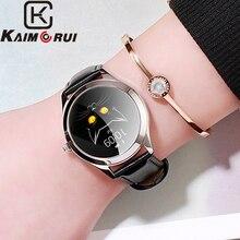 Купить с кэшбэком Fitness Tracker Watch IP68 Waterproof Bluetooth Smart Watch Women Heart Rate Fitness Bracelet Sports Wristband for Women Watch