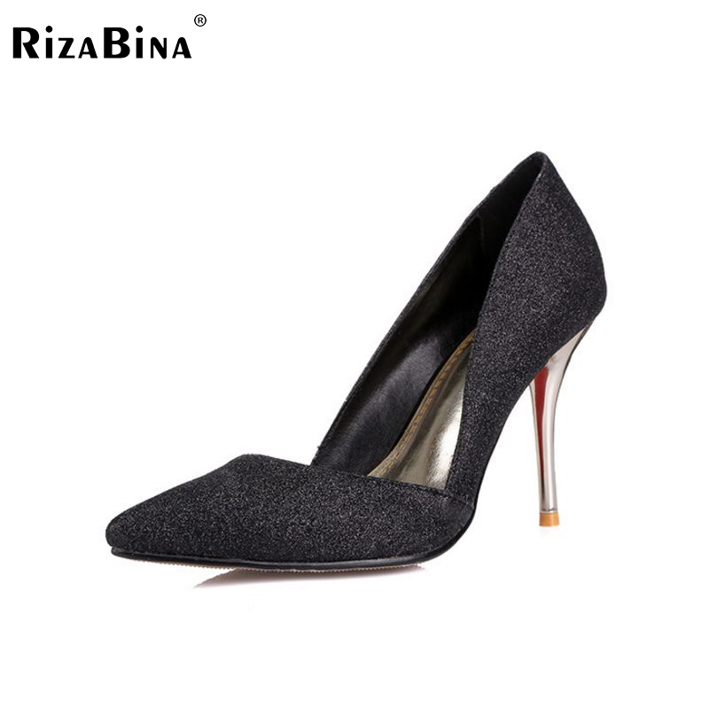 women real genuine leather stiletto meatal head high heel shoes brand sexy fashion pumps ladies heeled shoes size 30-45 R6920 као као маска megrhythm паровая для глаз лаванда шалфей n5