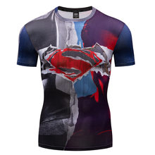 babbb6cebed 2018 New Fashion Fitness Compression T Shirt Men Anime Bodybuilding tops  tees 3D Superman Punisher t