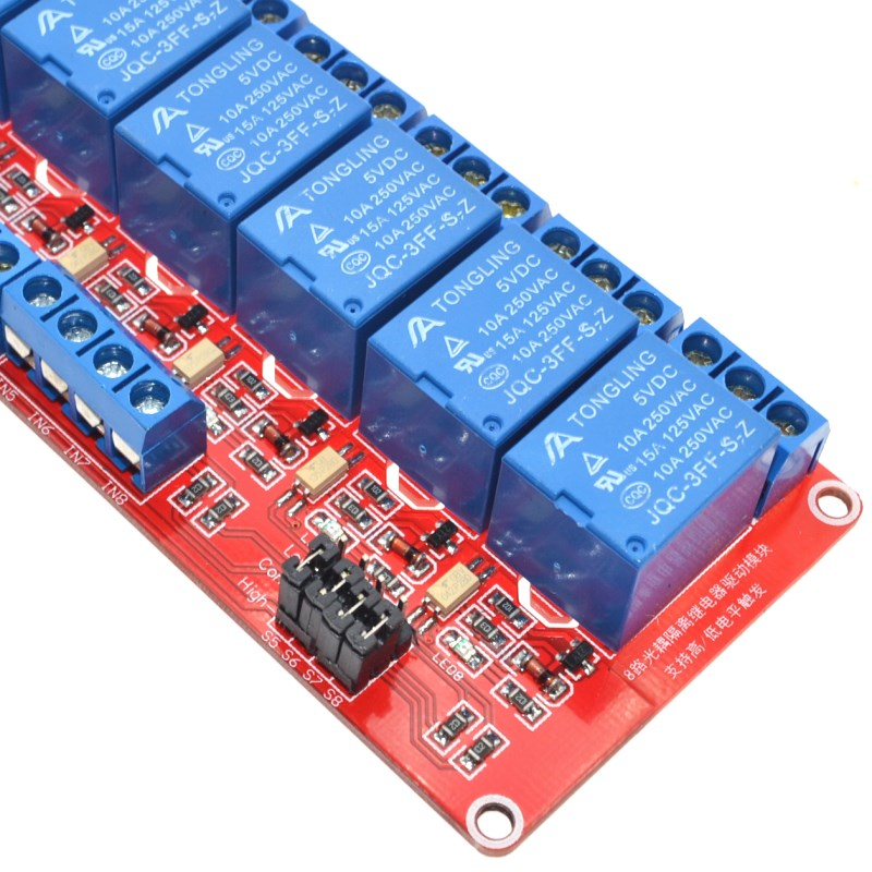 High/Low level trigger 8 channel relay control panel PLC relay 5V module for arduino hot sale in stock.8 road 24V Relay Module