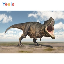 Yeele Vinyl Dinosaurs Open Mouth Grass Children Birthday Party Photography Background Baby Photographic Backdrop Photo Studio