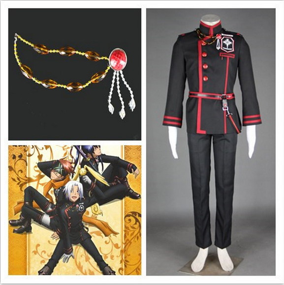 D. Gray-man Allen Walker Cosplay Costume Full Suit Anime Cos Accessories Customized