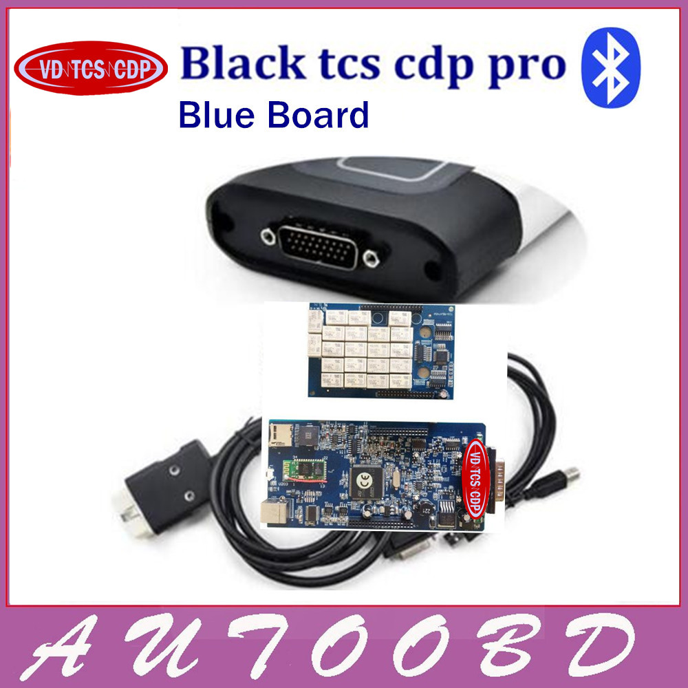 Avec Bluetooth Fonction!! Super VD TCS CDP PRO Plus Keygen + led 3 in1 SN.100251 OBDII OBD OBD2 Scanner De Diagnostic Interface Outil