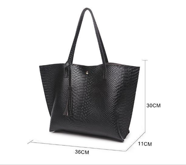 ⑥GALGALYI borla Mujer bolsos PU de cuero de gran capacidad bolsas ...