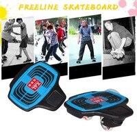 Стильные мини Пластик Скейтборды 2 Колёса скейтборд скутер с мигающими Колёса Кисточки улице доска