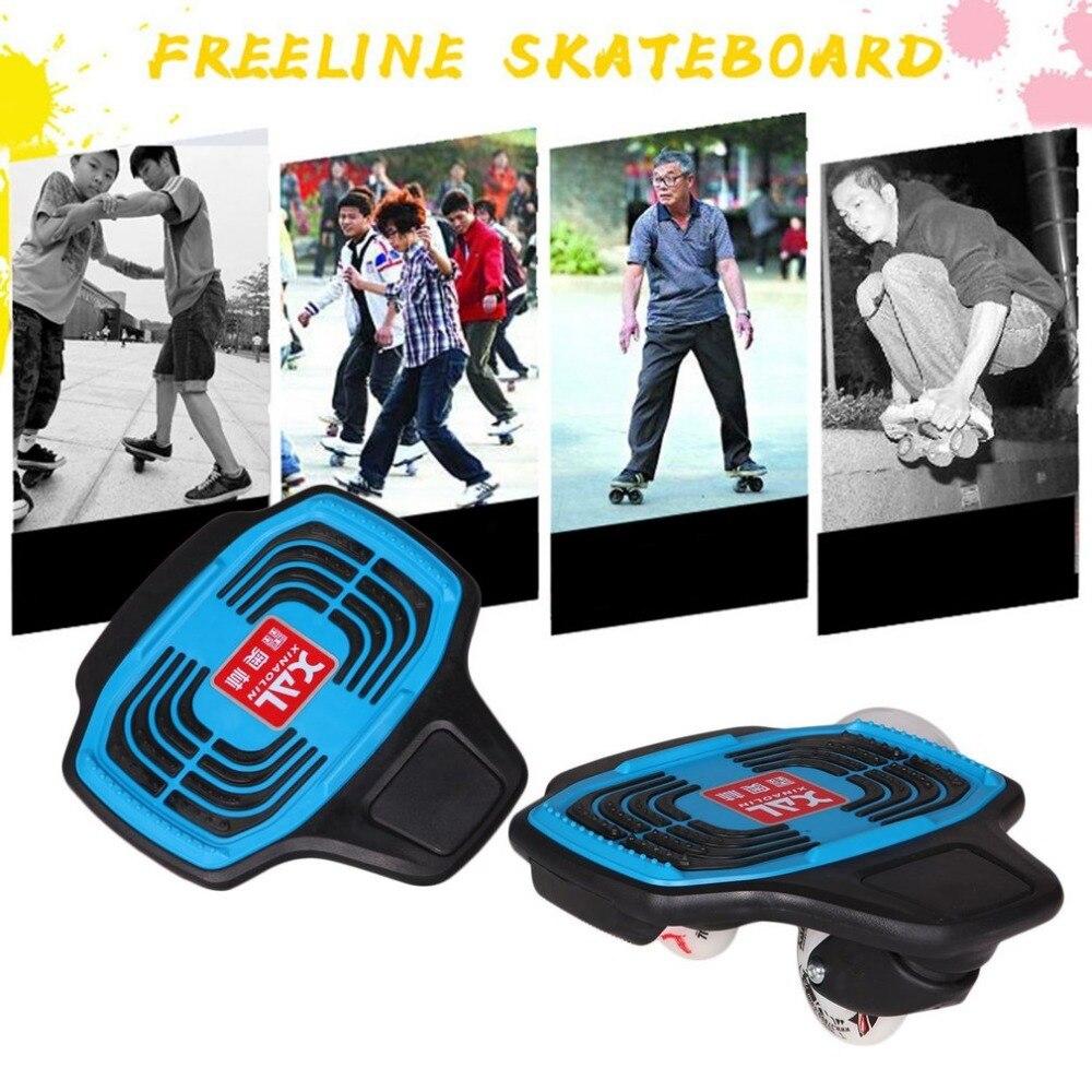 все цены на Stylish Mini Plastic Skate Board 2 Wheels Skateboard Scooter With Flashing Wheels Brush Street Board онлайн