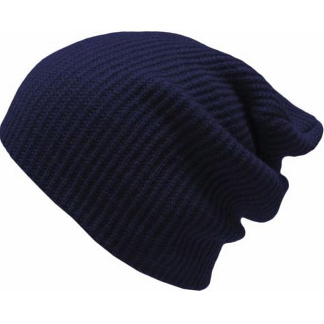14fa97fea700f Winter Men Bonnet Manly Crochet Baggy Beanie Knit Slouchy Ladies Skull Caps  Navy Blue Red Dark Gray Black Army Green