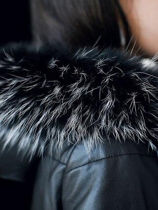 2018 Chaqueta Lx335 Fox Mouton Hiver En Véritable Réel Vestes De Black Long Nouveau 100 Fourrure Duvet Veste Mujer Naturel Canard Cuir Manteau WUYfnq