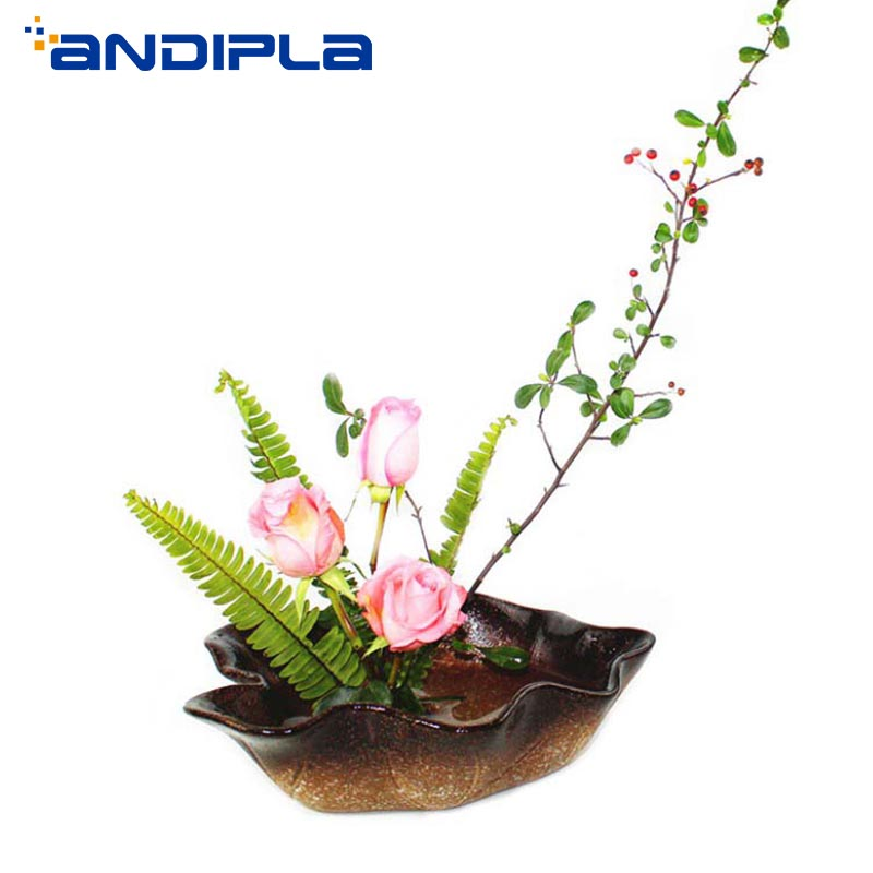 Creative Love coeur dentelle disque Style japonais fleur Arrangement Pot de fleurs poterie grossière Pot de fleur en céramique jardinières décor à la maison
