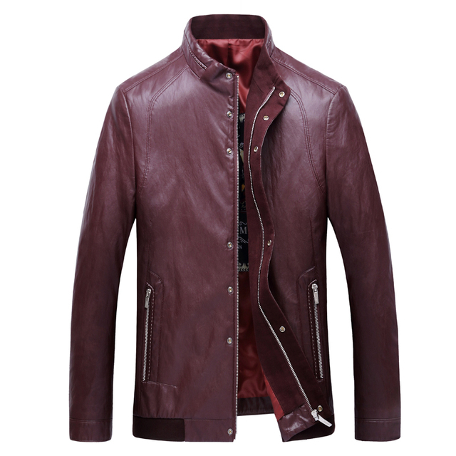 3XL-7XL New Arrival Leather Jackets Men's jacket middle-agedOutwear Men's Coats Spring & Autumn PU  De  Coat Plus Size leather