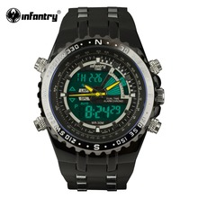 INFANTRY Mens Watches LCD Reloj Digital New Casual Quartz Watch Military Police Chronograph Watch Date 2016 Luxury Brand