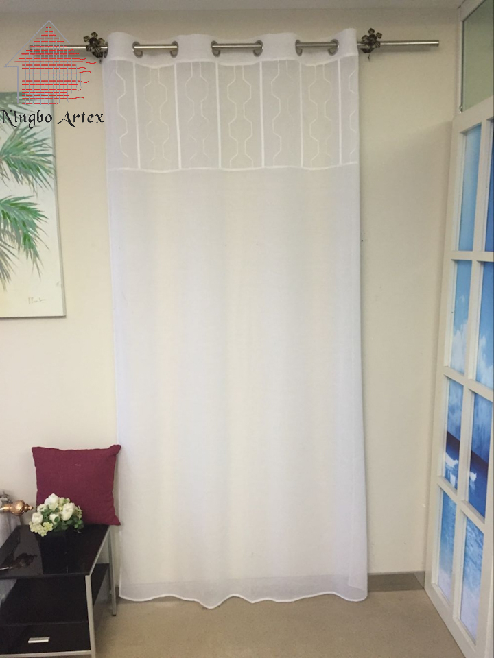 artex floral diseo lavable panel de telas de la cortina de tul hermosa pura american