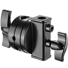 Neewer Многофункциональный Heavy Duty 2,5-дюймовый зажимной головкой поворотная головка держатель Монтажный адаптер для светильник подставка расширения складывающаяся штанга микрофона