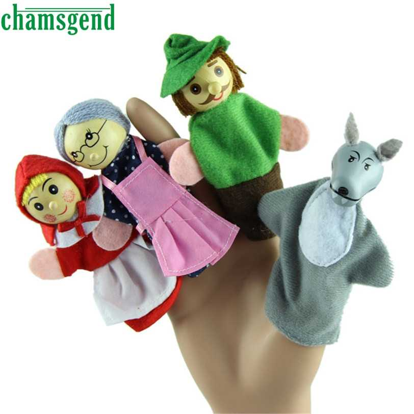 CHAMSGEND Best seller drop ship  PCS Little Red Riding Hood Finger Puppets Christmas Gifts Baby Educational Toy S25