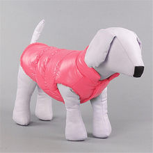 Neue stil Warnen Winter Hunde Haustier Katze Padded Weste Coat Puppy Warme Unten Fleece + Polyester Jacken Kleidung(China)