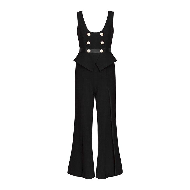 Fête De Combinaisons Sans Gosexy Femmes Toute Nouveau Survêtements Longueur Manches Black La Robes Mode Split Décontractés 2019 SAwwz8xqB0