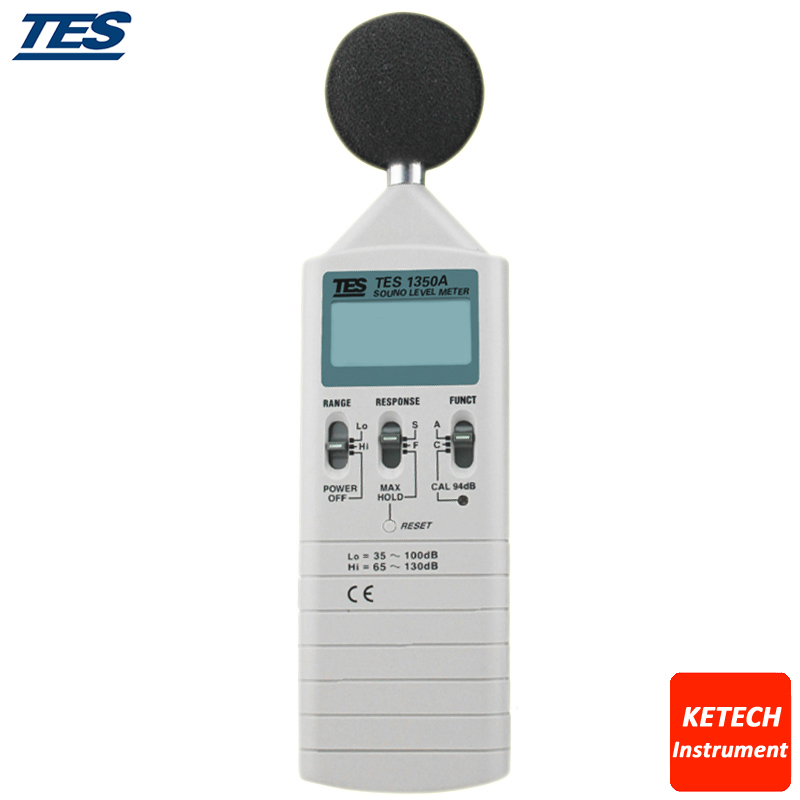 TES-1350A Noise Sound Level Meter 35-130 dB 0.1dB Resolution tes ro 18 14 ts 323 35