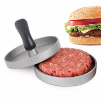 1 Set Patty Maker Mold Round Shape Aluminum Alloy Patties Makers Pp Handle Meat Beef Grill Burger Hamburger Presses Presser