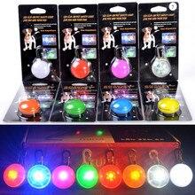 Светодиодный фонарик ошейник для собак и кошек светящийся кулон безопасность домашних животных ночью светящееся яркое украшение ошейники для собак