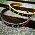 Mens relógio Velocímetro Oficial Pulseira moda pulseira rosa de ouro pulseira de Aço Inoxidável bangle Frete grátis BD0115