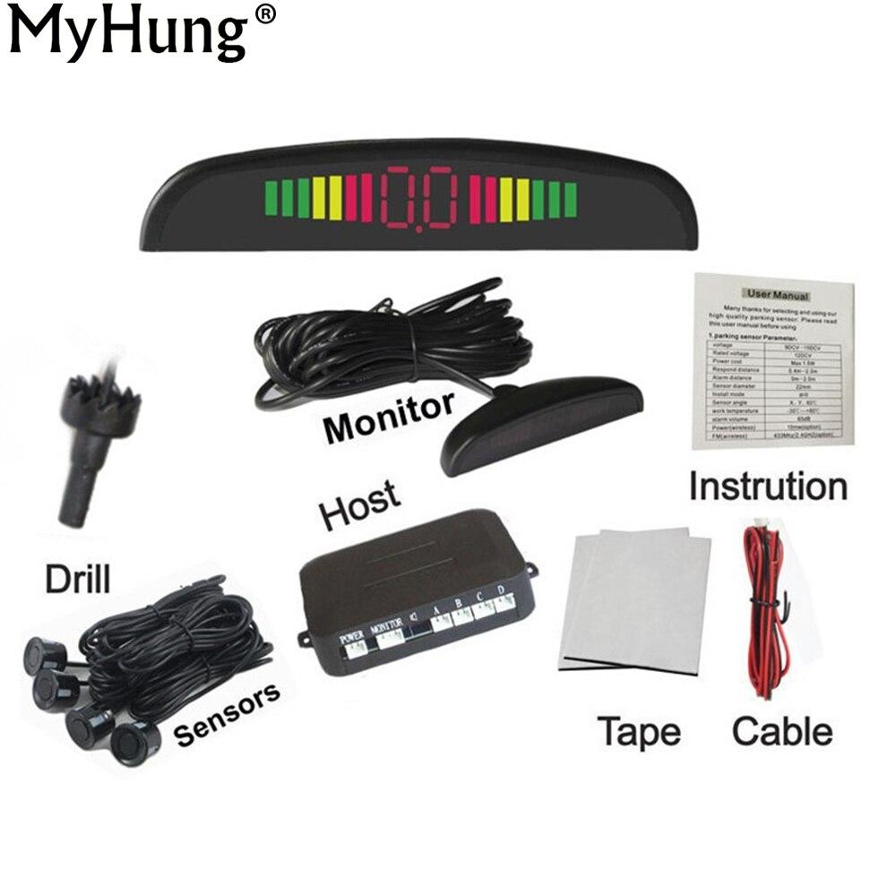 Prix pour Parking voiture LED Monitor Sensor Auto Reverse Sauvegarde Radar Detector System LED Affichage 4 Capteurs 6 couleurs à choisir en gros