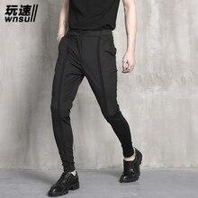 M-5XL! мужские летние повседневные брюки, тонкие обтягивающие штаны, индивидуальные универсальные конические шаровары, брюки