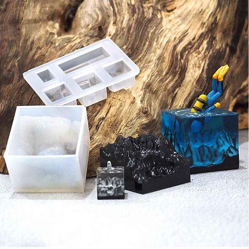 הר שלג עובש סיליקון שרף עובש DIY נוף מיקרו USB כונן שרף תבניות חדש עיצוב מיובש פרח תבניות תכשיטי כלי jewe