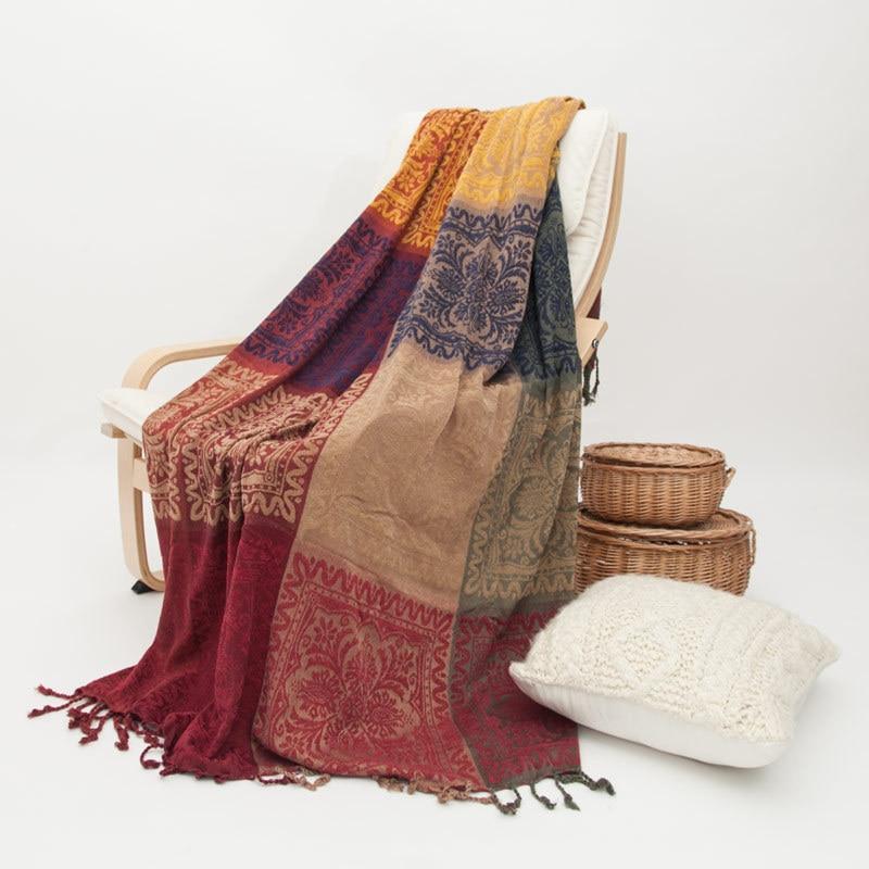 Bohême canapé coton couverture écharpe Plaid chaise lit décor serviette couvertures voyage bureau dormir couette couvre-in Couvertures from Maison & Animalerie    1