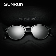 SUNRUN Classic Fashion Polarized Women Sunglasses Brand Designer TR90 Frame Oval Lens Sun Glasses Car Driving Oculos M1380-d
