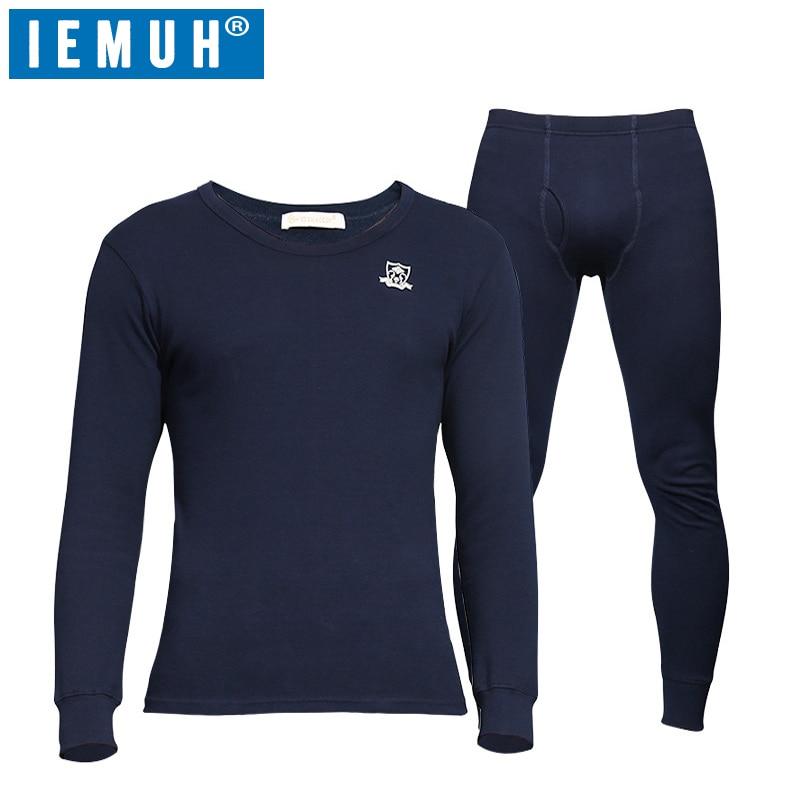 IEMUH hiver Long Johns sous-vêtement thermique pour hommes coton marque anti-microbienne Stretch hommes Thermo sous-vêtements mâle chaud thermique