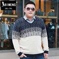 Новая осень мужчины негабаритных свитера жира жира люди добавить удобрений увеличился моды заклинание цвет свитер Мужской моды MY517