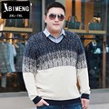 New fall men oversized sweaters fat fat people add fertilizer increased fashion spell color sweater fashion Menswear MY517