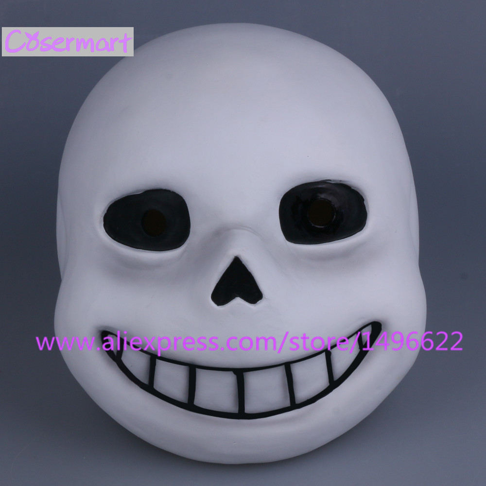 Hot Game Undertale Mask Hard Latex Cosplay Sans Papyrus helmet Full Head Masks Halloween Party Prop (14)