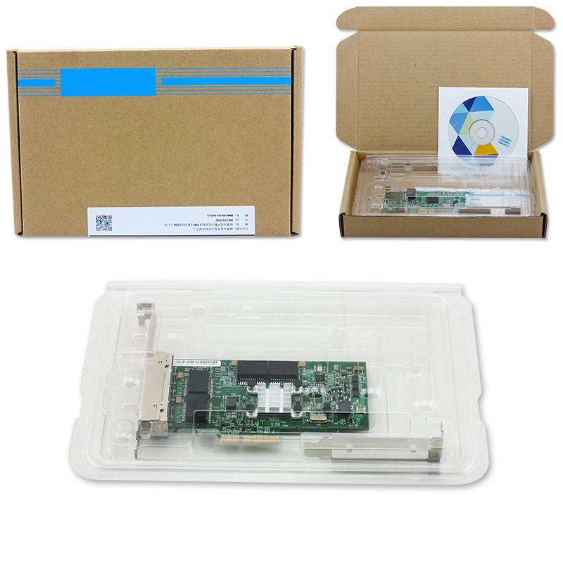 PCIe X4 Gigabit Ethernet NIC Card 4 Port Network Adapter 10/100/1000M For  Server-in Network Cards from Computer & Office