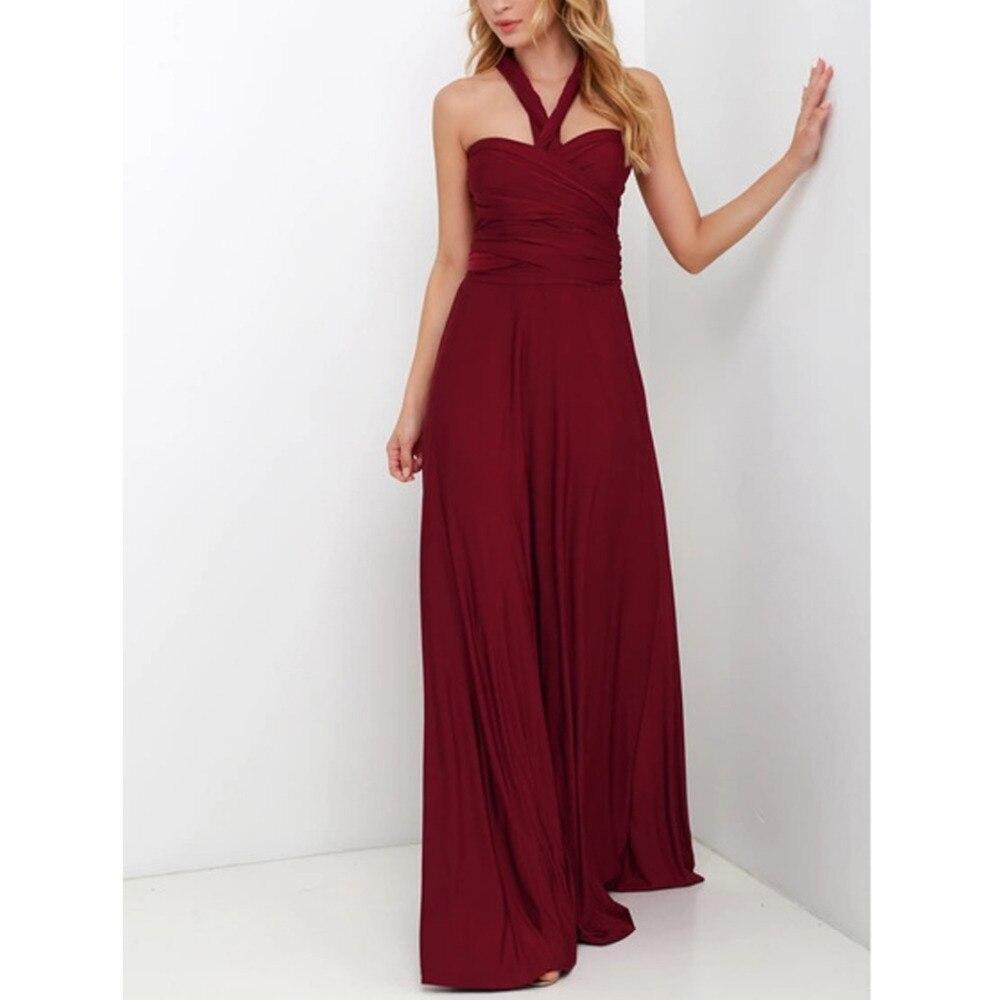 Sexy femmes Bandage Maxi Robe rouge automne Longue Robe Multiway demoiselle d'honneur Convertible Wrap robes de soirée Robe Longue Femme grande taille