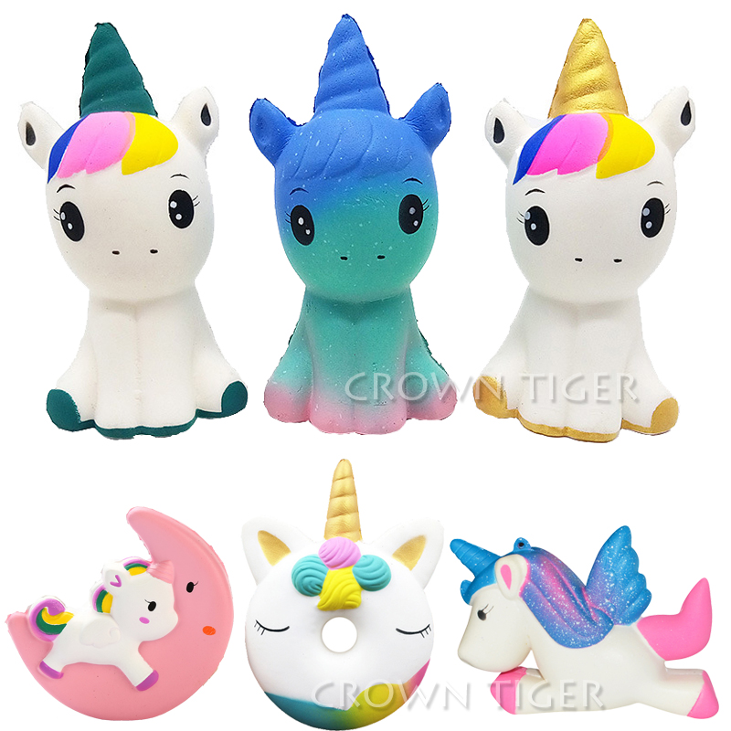 Mobile Phone Straps Kawaii Anti-stress Cute Squishy Charm Slow Rising Unicorn Squishes Galaxy Peach Squishi Banana Poo Tooth Cake Cream Pu Toy Evident Effect