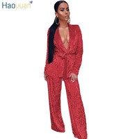 HAOYUAN Velvet Two Piece Set Women 2017 Fall Winter Long Sleeve Kimono Top Wide And Wide