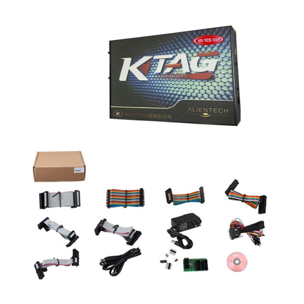 Ktag + KESS V2 unidad principal solo el último software V2 32 FW V4 036  OBD2 herramienta de