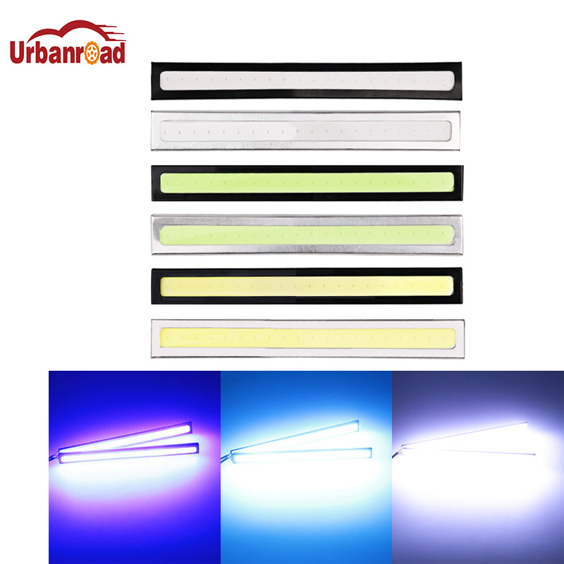 Urbanroad 2pcs Waterproof Super Bright White 14cm Daytime Running light COB Daytime Lights LED Car DRL Driving lamp Car styling one piece manga model toys one piece portgas d ace animation model toy classic cartoon figures gifts for children