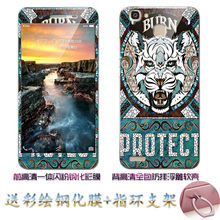 Huawei gr3 case 360 градусов защитные тпу обложка + цвет комплексная закаленное стекло case для huawei gr3 enjoy 5s марка #0388