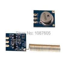 2pcs/lot 433MHz / 315MHz STX882 – ASK Transmitter Module+ nickel plated spring antennas