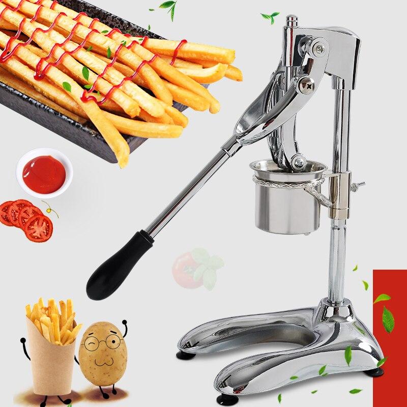 Ticari paslanmaz çelik Uzun 30CM Patates Cipsi Sıkacağı Makinesi Fransız Manuel Patates Kesiciler patates cipsi makinesi makinesi