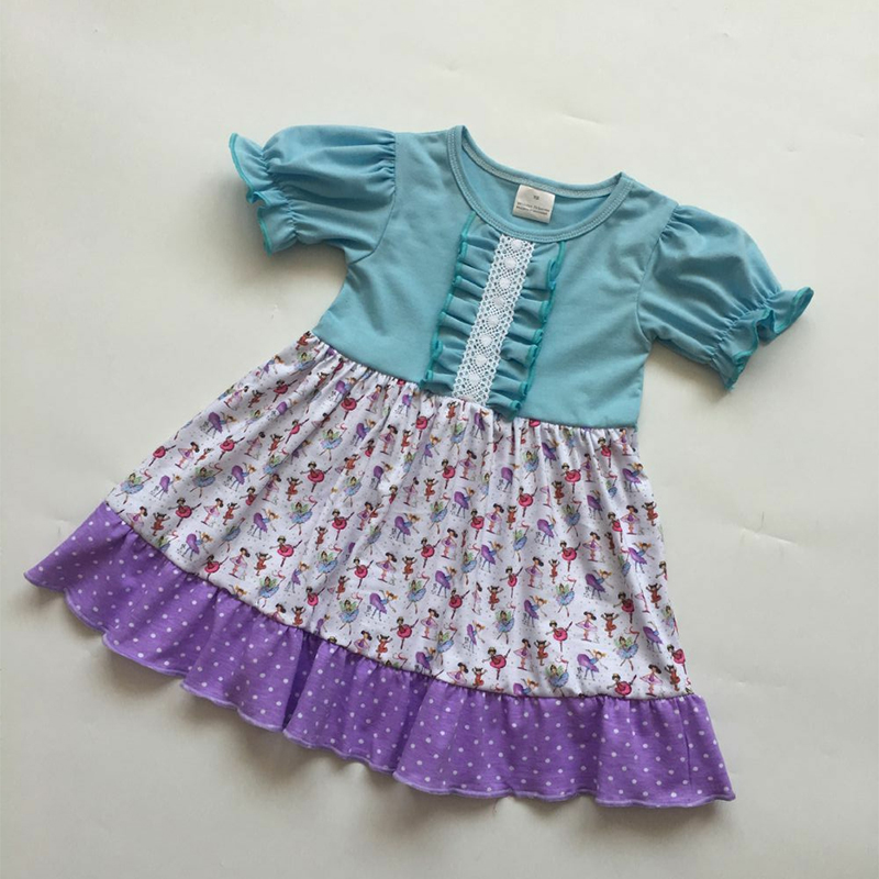 17a6986bc4fca 2019 Europe and the United States summer new girl baby clothes round neck  short-sleeved