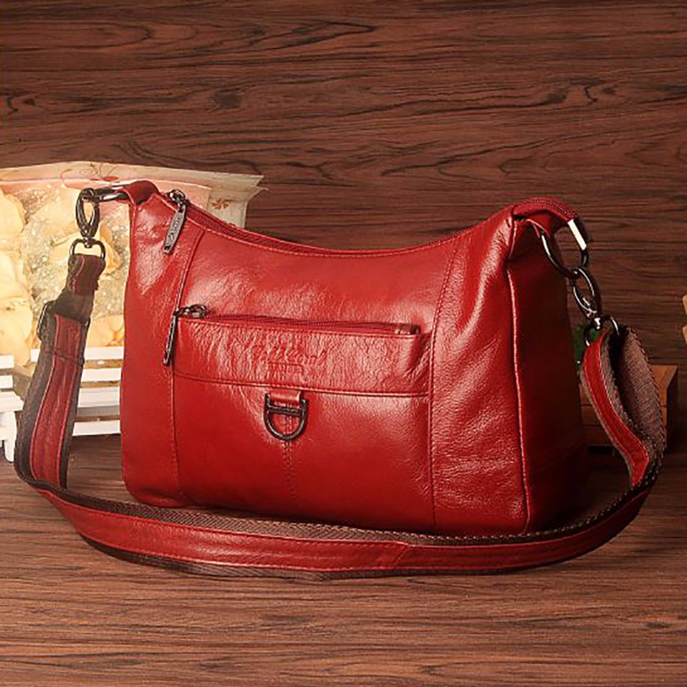 Genuine Leather Cowhide Women Single Shoulder Tote Handbag Cross Body Bag Shopping Vintage Brand Famous Female Messenger Bags стоимость