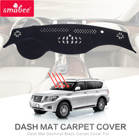 Smabee Dash Mat Dashmat Black For NISSAN PATROL Y62 Carpet Cover Insulation Mat Automotive Interior