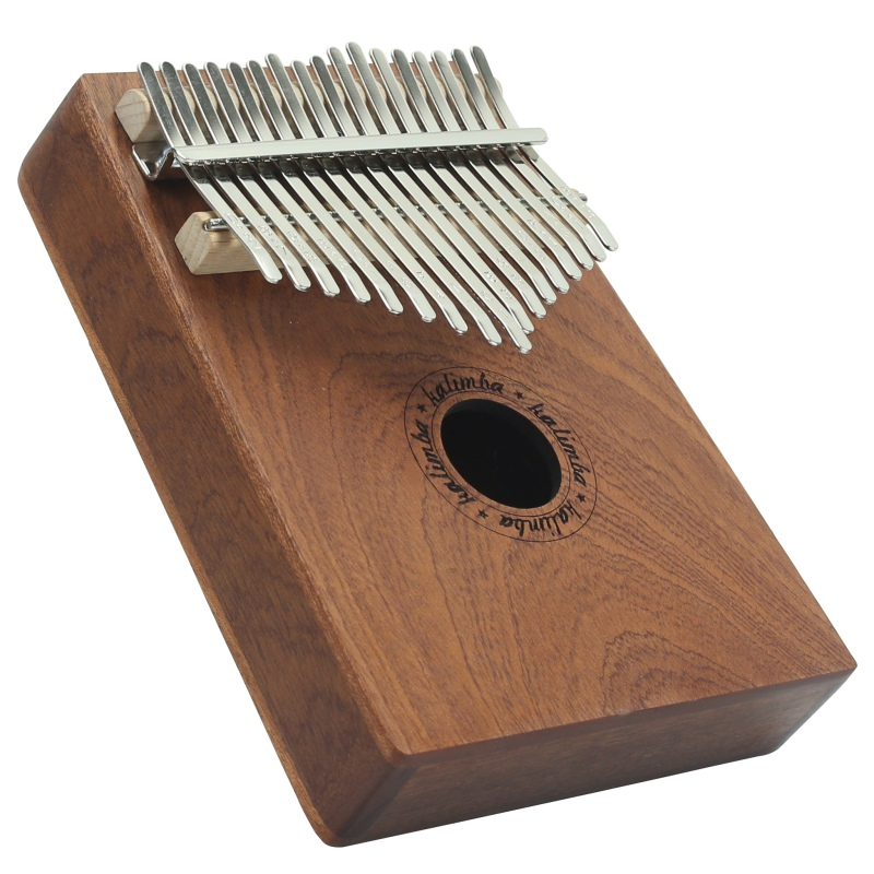 17 Keys Thumb Piano Wood Instrument Pine Aluminum Bar Kalimba Keyboard Music Portable Finger Board With Tune Hammer