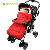 Actionclub New Arrival Baby Sleeping Bags Warm Winter Envelope For Newborn Fur Stroller Thicken Baby Sleeping